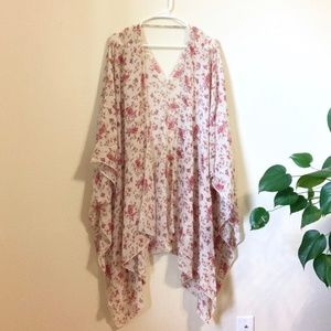 Floral Kimono/Bathing Suit Cover Up